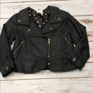 Genuine kids 4T pleather Jacket